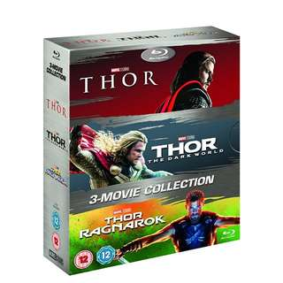 Thor 1-3 Boxset Blu-ray (NEW,Mint-wrapped and Not Open)