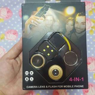 Camera lens and flash for mobile phone