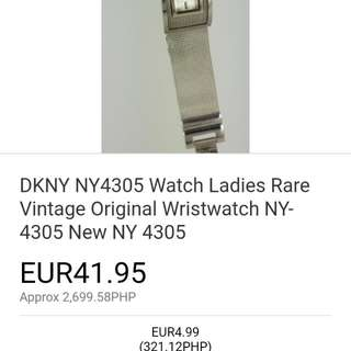 dkny ny4305 orignal vintage and rare watch