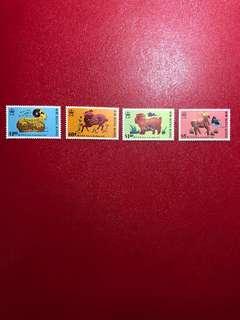 香港郵票-生肖羊年(第二組)