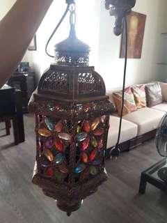 Rustic drop lamp