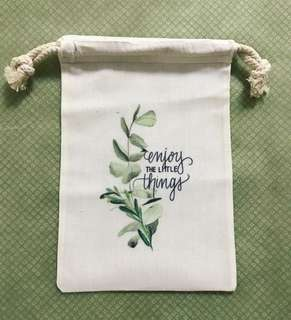 Drawstring pouch ~ Enjoy the little things 🍃🍂