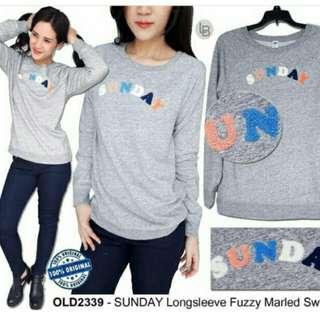 Oldnavy SUNDAY Longsleeve Fuzzy Marled Sweater