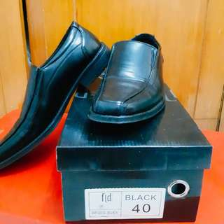 Fladeo Black Formal Shoes Size 40