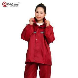 Rainfreem rain suit jacket and pants - red