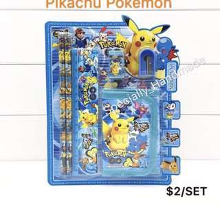 POPULAR!! $2 CHILDREN WALLET GIFT SET Pokemon Stationery Set goodie bag