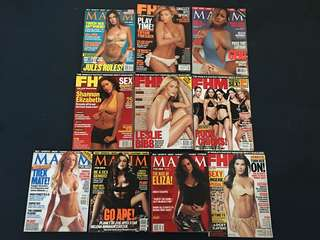 Year 2001 Magazines for Men (FHM & Maxim)