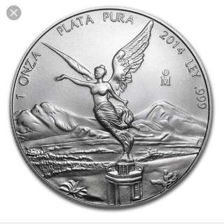 2011 and 2014 Mexican Silver Libertad