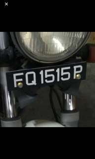 FQ 1515 P.  Number plate