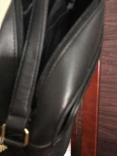 BLACK Leather bag by MARK & SPENCER