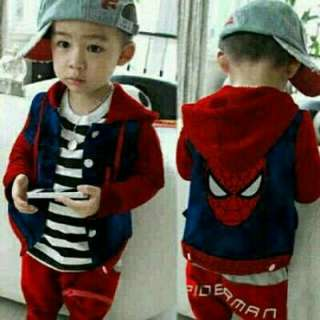 JY Set Polo Spider RED  matt celana + jket bhn babyteri + inner spdk fit 3-5th