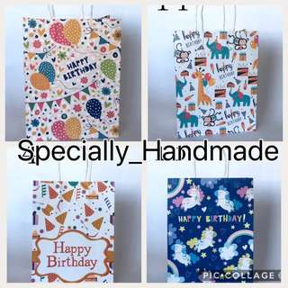 [INSTOCK] PARTY HAPPY BIRTHDAY PAPER BAG / GOODIE BAG / GOODY BAG