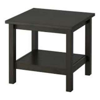 Rubber wood side table