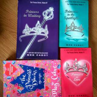 3for$10 Princess Diaries Vols. 2-4 & 8 Meg Cabot