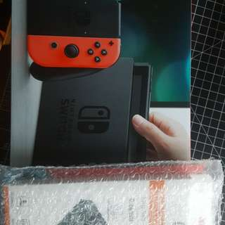 BNIB Sealed Nintendo Switch + 2pk glass screen protectors