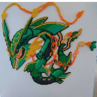 Hama beads design huge mega rayquaza pokemon anime