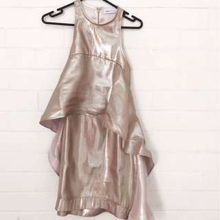 Alice McCall Metallic Gold Dress (Size 6)