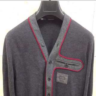 Authenthic Dsquared Knit Cardigan with piping trim