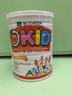 o'kid organic soya milk