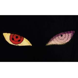 Hama beads design huge naruto shippuuden sasuke uchiha eyes sharingan and rinnegan
