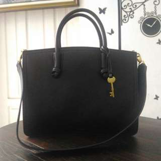 New Fossil Skyler Satchel Black