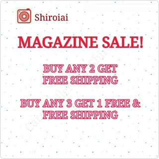 BUY 2 FREE SHIPPING PRELOVED MAGAZINE SALE!
