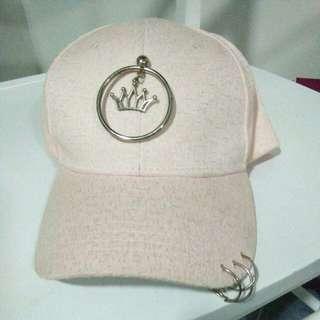 Pink crown princess cap