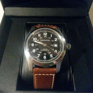 Hamilton Khaki Field Automatic Black Dial Men's Watch H70555533 咸美頓 咸仔 自動 軍錶