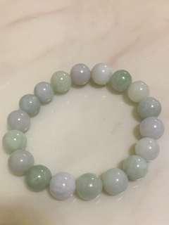天然玉珠翡翠手鏈