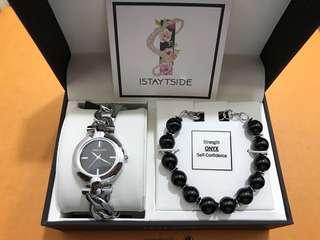 Anne Klein Watch and Bracelet Set
