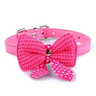 Adjustable Kitten Cat Puppy Dog Collar Bow