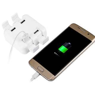 4 USB Ports Rapid Charging