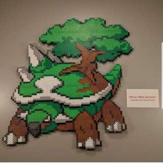 Hama beads design huge pokemon torterra