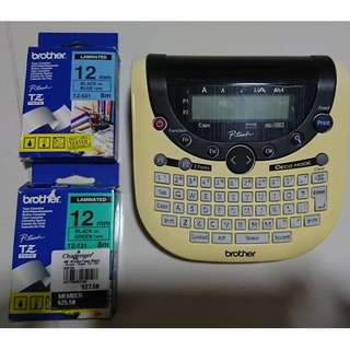 Brother P-Touch label maker with 3 cartridges