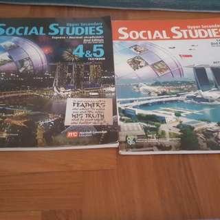 Social Studies, literature Textbooks