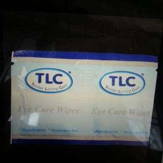 TLC eye care wipes