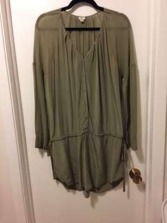 Aritzia Wilfred silk dress - size small