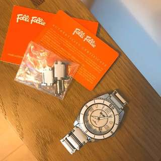 Folli Follie woman ceramics watch in white 白色女裝陶瓷錶