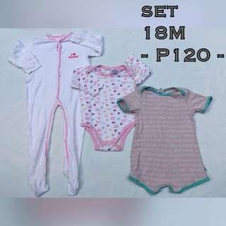 Preloved onesie set 18M