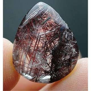 12Ct Natural Clear Beautiful Rutile Crystal Quartz Pendant Polished