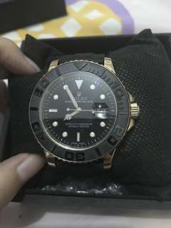 Rolex Yacht Master Black Gold