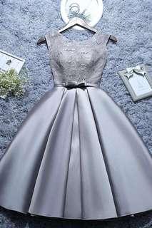 Lace 絹面綁帶宴會裙姊妹裙