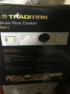 US TRADITION DELuxe Rice Cooker  ( 10 cups)