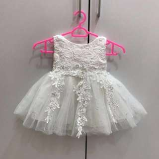 Baby White Lace Princess Dress