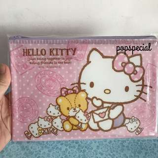 Hello Kitty Plastic Zipper Zip Pouch Bag