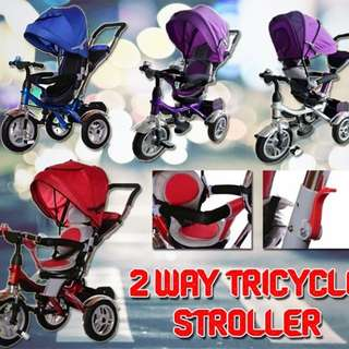 Two way tricycle stroller