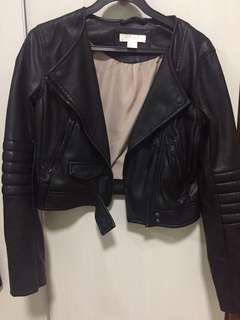 H&M Cropped Leather Jacket