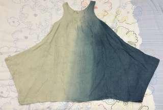 Beige/Blue Dress 007