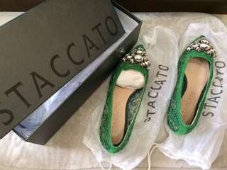 Green Flat Shoes Staccato