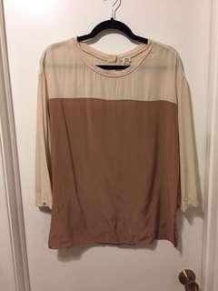 Wilfred silk top - size medium